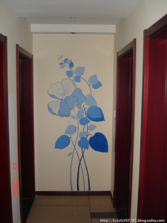 玄关墙绘图片,手绘墙图片素材