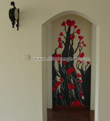 玄关墙绘图片,手绘墙图片素材,墙绘图片素材,墙体彩绘