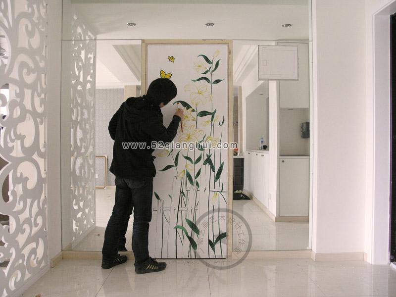 隐形门墙绘图片,客厅墙绘图片,手绘墙图片素材,墙绘,.