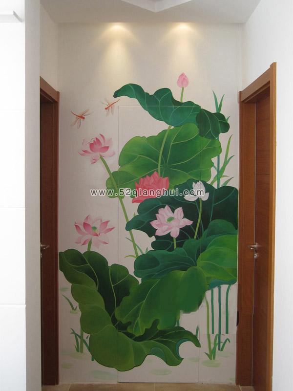 隐形门墙绘图片,客厅墙绘图片,手绘墙图片素材