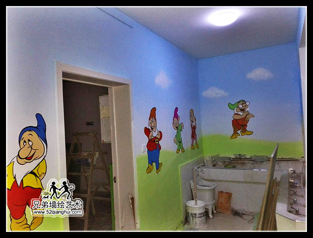 南京白下区喜洋洋幼儿园彩绘喷画