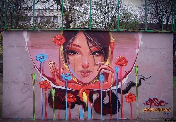 涂鸦者更加重视涂鸦的过程,享受涂鸦带来的兴奋