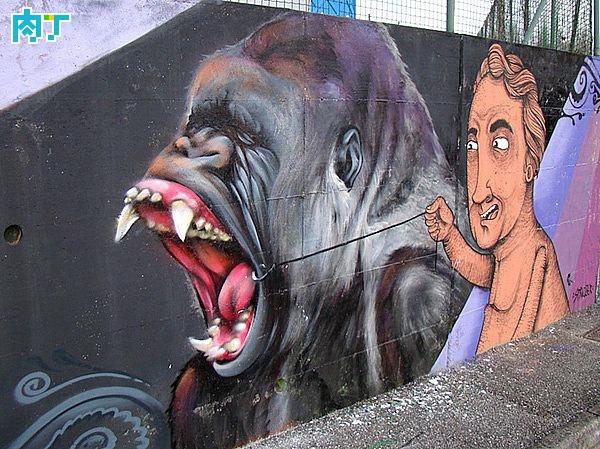 意大利街头艺术家reFRESHink街头涂鸦艺术作品
