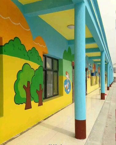 2016暑假来临很多南京幼儿园墙绘开始了