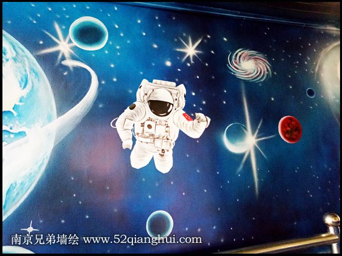 学校墙绘科学室墙体彩绘
